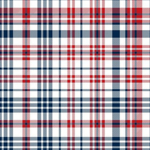 samford plaid - navy and red tartan check, tartan fabric, check fabric, samford fabric