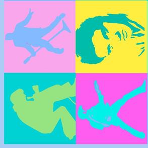Elvis Prestley Collage Tea Towel 27x27