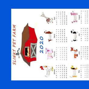 Slinky Pet Farm Tea Towel Calendar