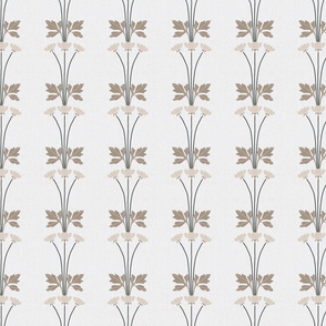 Neutral Art Deco Floral Stripes