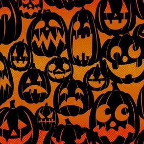 Halloween Pumpkins - Black