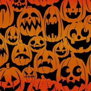 Halloween Pumpkins Swatch - Halftones