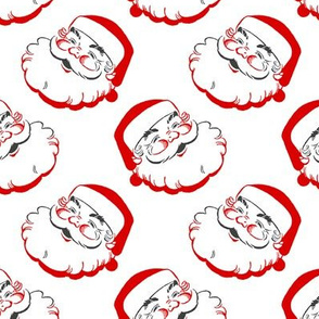"Smiling Santa retro 2 1/2"" medium size"
