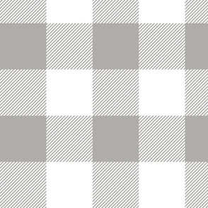 """4"""" plaid - grey and white - LAD19"""