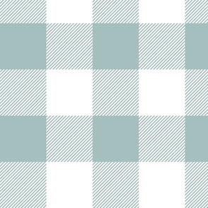 """4"""" plaid - dusty blue and white - LAD19"""