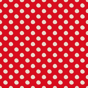 Whimsey Red White Polka Dots