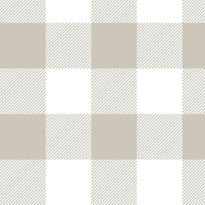 """4"""" plaid - greige and white - LAD19"""