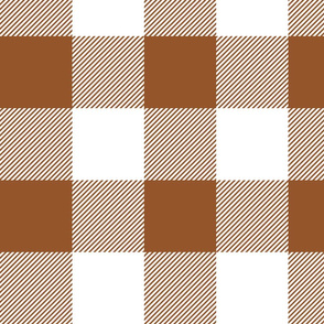 "4"" plaid - sugar almond and white - LAD19"