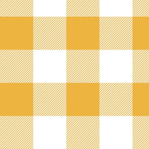 """4"""" plaid - yellow and white - LAD19"""