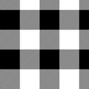 "4"" plaid - black and white - LAD19"