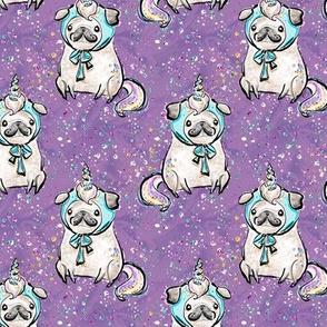 """Pug Unicorn glitz 3"""" glitter sparkles"""