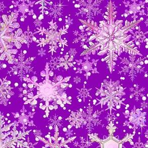 Fancy Snowflakes purple