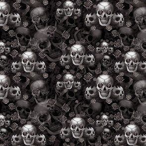 Gothic skulls and roses