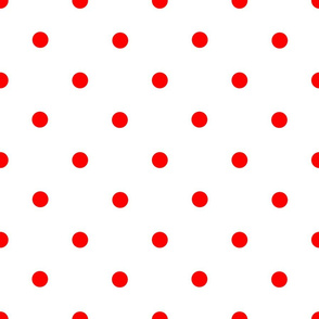 Classic Polka Dots - Red on White