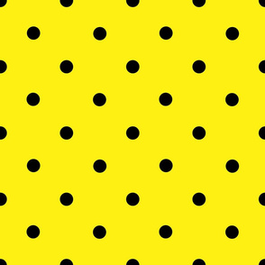 Classic Polka Dots - Black on Yellow