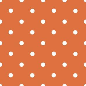Classic Polka Dots - White on Nutmeg