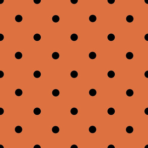 Classic Polka Dots - Black on Nutmeg