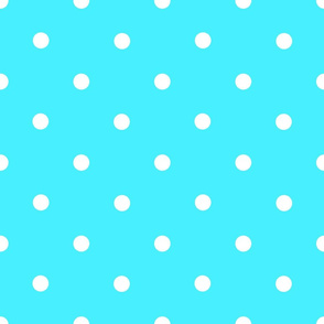 Classic Polka Dots - White on Blue