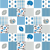 "lions quilt  3"" squares - patchwork quilt, cheater quilt, wholecloth, broadcloth, detroit fabric"