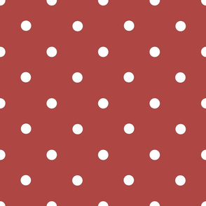 Classic Polka Dots - White on Cinnamon