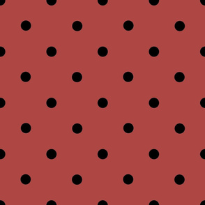 Classic Polka Dots - Black on Cinnamon