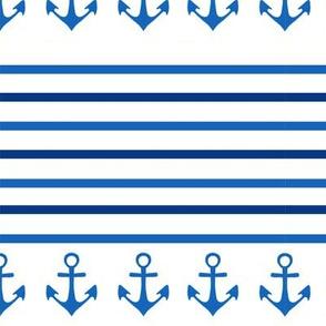Anchors & Stripes on White