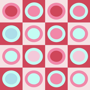 Pink Retro Circles