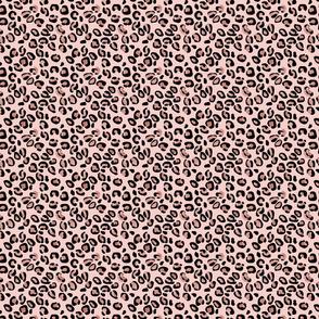 Leopard Rose Gold Foil Spots on Pink
