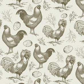 Vintage Chickens and Eggs in Mint