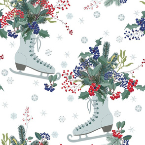 Christmas decoration with frosty berries