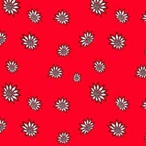 Flower, red, M078