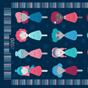 2020 Calendar Tea Towel - Spoon Dolls