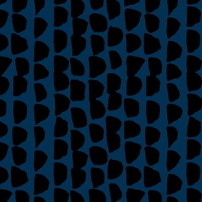 Little rows and spots abstract minimal trend animals print little inky brush strokes jungle dashes black navy blue