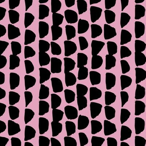 Little rows and spots abstract minimal trend animals print little inky brush strokes jungle dashes black pink