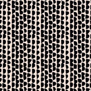 Little rows and spots abstract minimal trend animals print little inky brush strokes dashes black pale peach SMALL