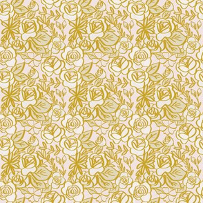 gold and blush florals - Mini