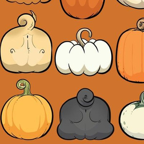 Pumpkins and Pug Butts - maple orange