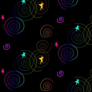 Rainbow Stars & Swirls