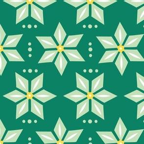 Scandinavian Green Poinsettia