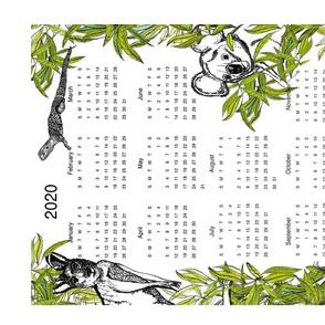 Australian Calendar T-towel
