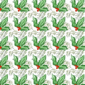 Winter Flora - holly _ pine spray
