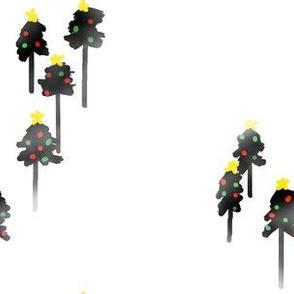 foggy forest Christmas