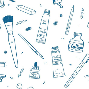 Illustrator's tools of the trade