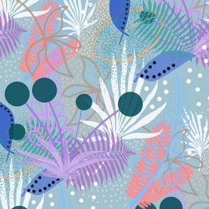 Exotic Mystery Garden #2 - steel blue