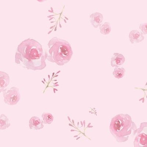 pink roses ditsy