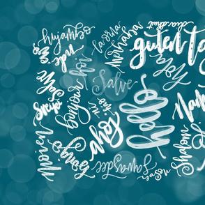 Hello world in 30 languages tea towel 23D10CBA-4682-4146-B6A7-60E394E56CAD