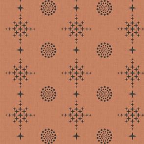 Southwest Circles & Crosses-Large-TerraCotta