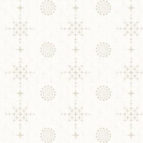 Southwest Circles & Crosses-Large-Ecru