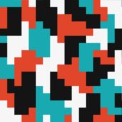 red-teal-color-blocking-shapes