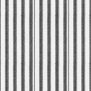 White & Black Ticking Stripes